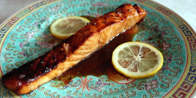 Soy-Garlic Glazed Salmon