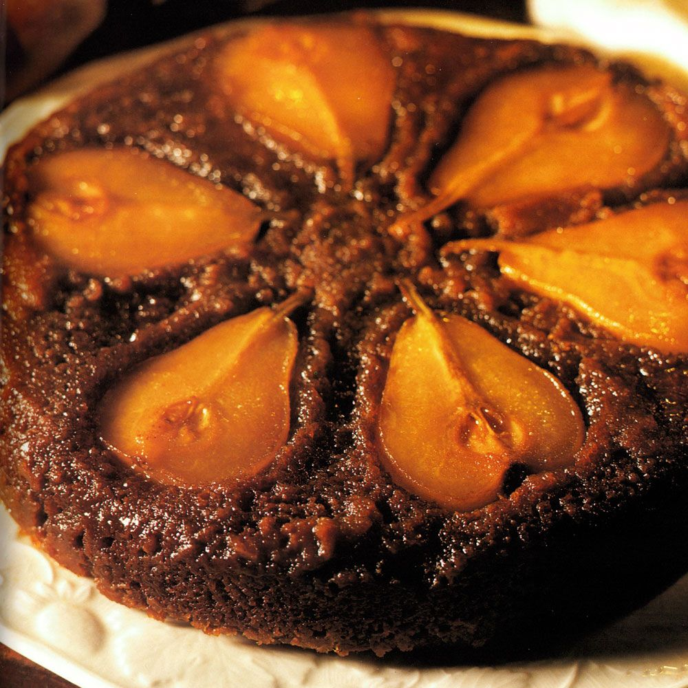 Upside-Down Gingerbread with Pears