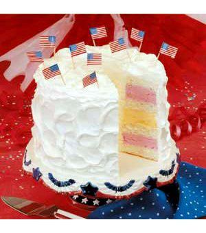 Fourth of July Ice Cream Cake