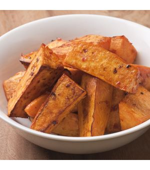 Chili-Garlic Roasted Sweet Potatoes