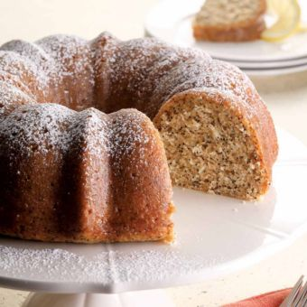 Double Lemon-Poppy Seed Bundt Cake