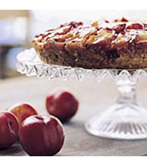 Plum-Almond Upside-Down Cake
