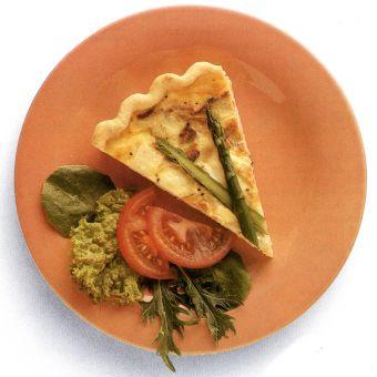Asparagus-Chicken Quiche