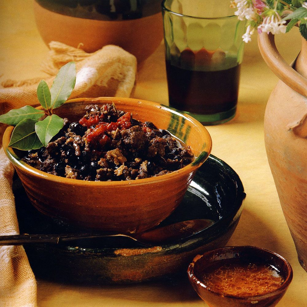 Turkey Black Bean Chili with Ancho Salsa