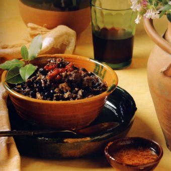 Turkey Black Bean Chili with Ancho Salsa