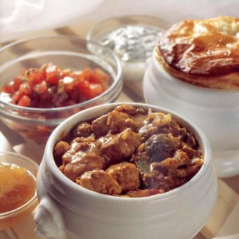 Chicken Curry with Three Accompaniments