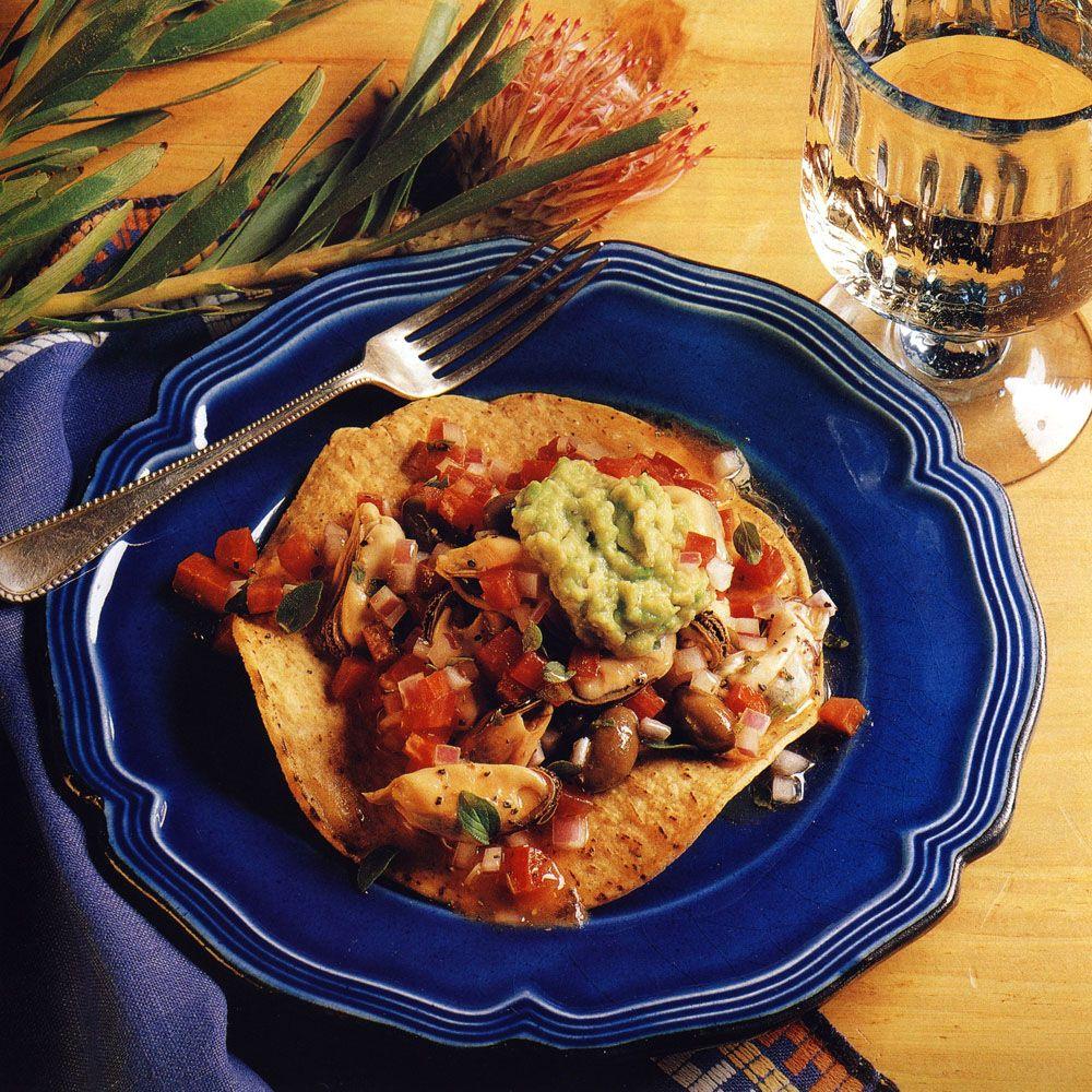Mussel Ceviche Tostadas
