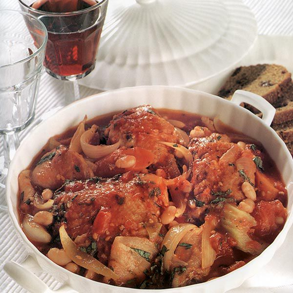 Hearty Chicken Casserole with Rye and Raisin Bread