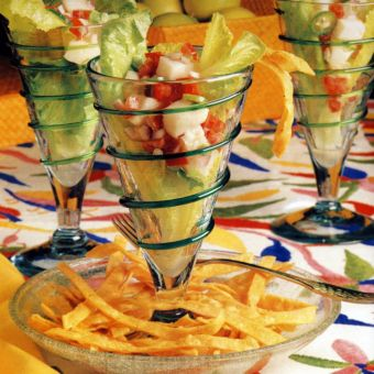 Sea Bass Ceviche with Lime and Cilantro