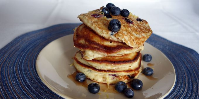 Blueberry-Lemon Ricotta Pancakes
