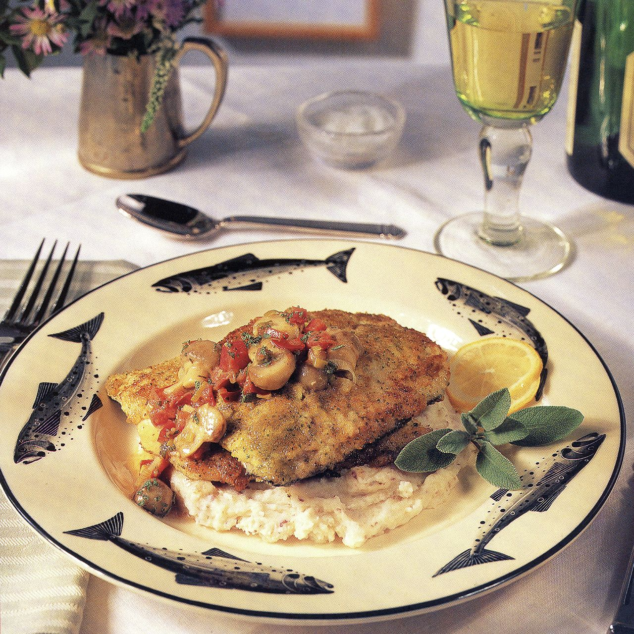 Mustard-Crusted Trout with Lemon-Sage Sauce