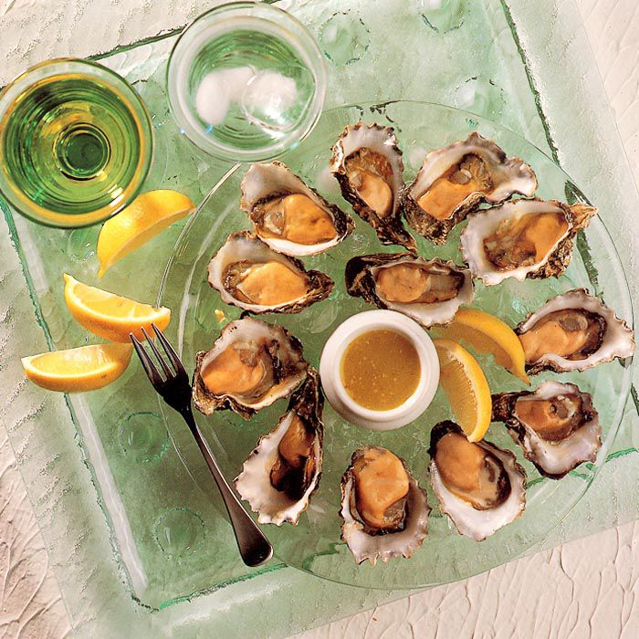 Oysters with Lemon Vinaigrette