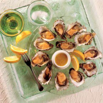 Oysters with Lemon Vinaigrette