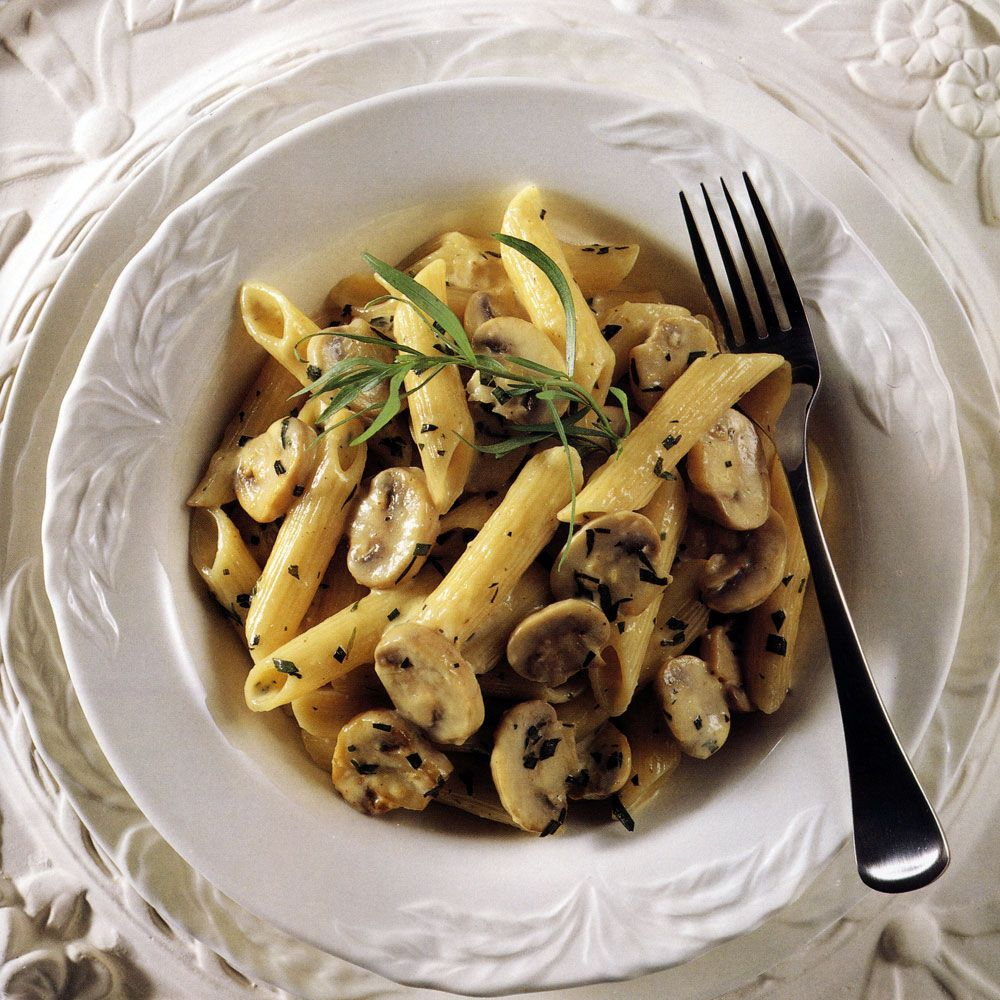 Penne with Mushroom and Tarragon Cream