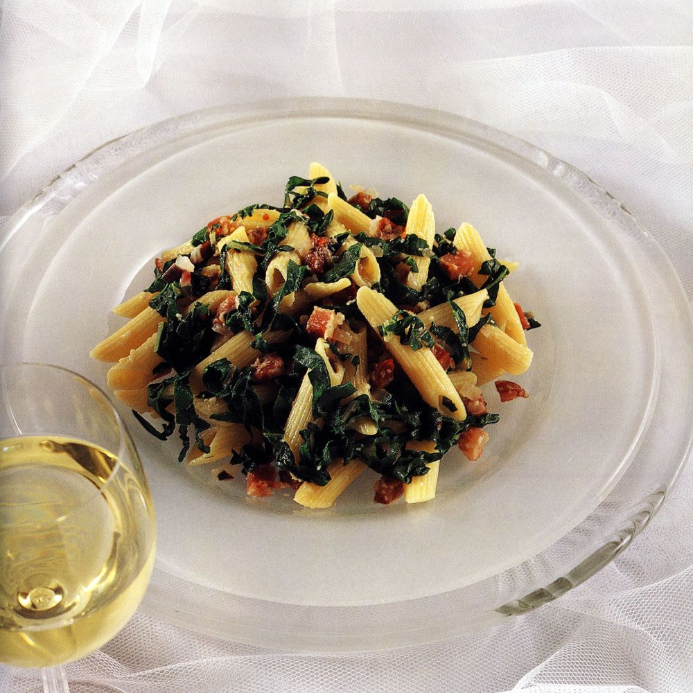 Penne with Chili Chard