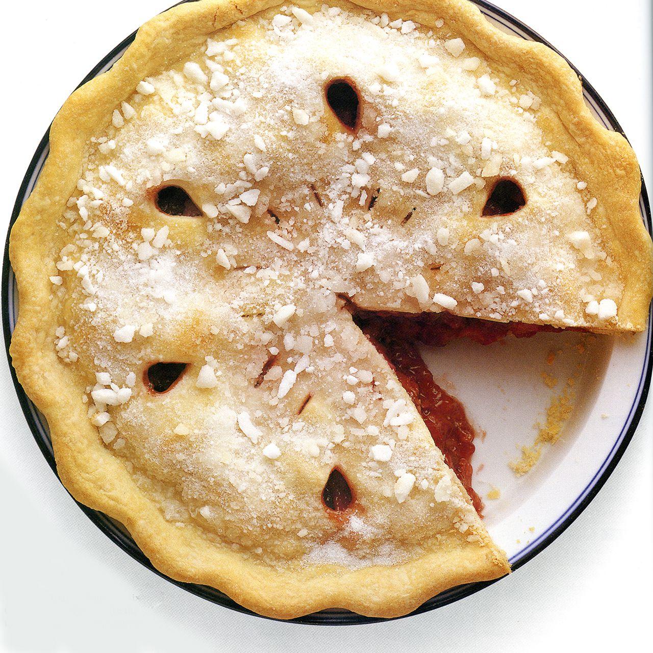Sugar-Crusted Strawberry-Rhubarb Pie
