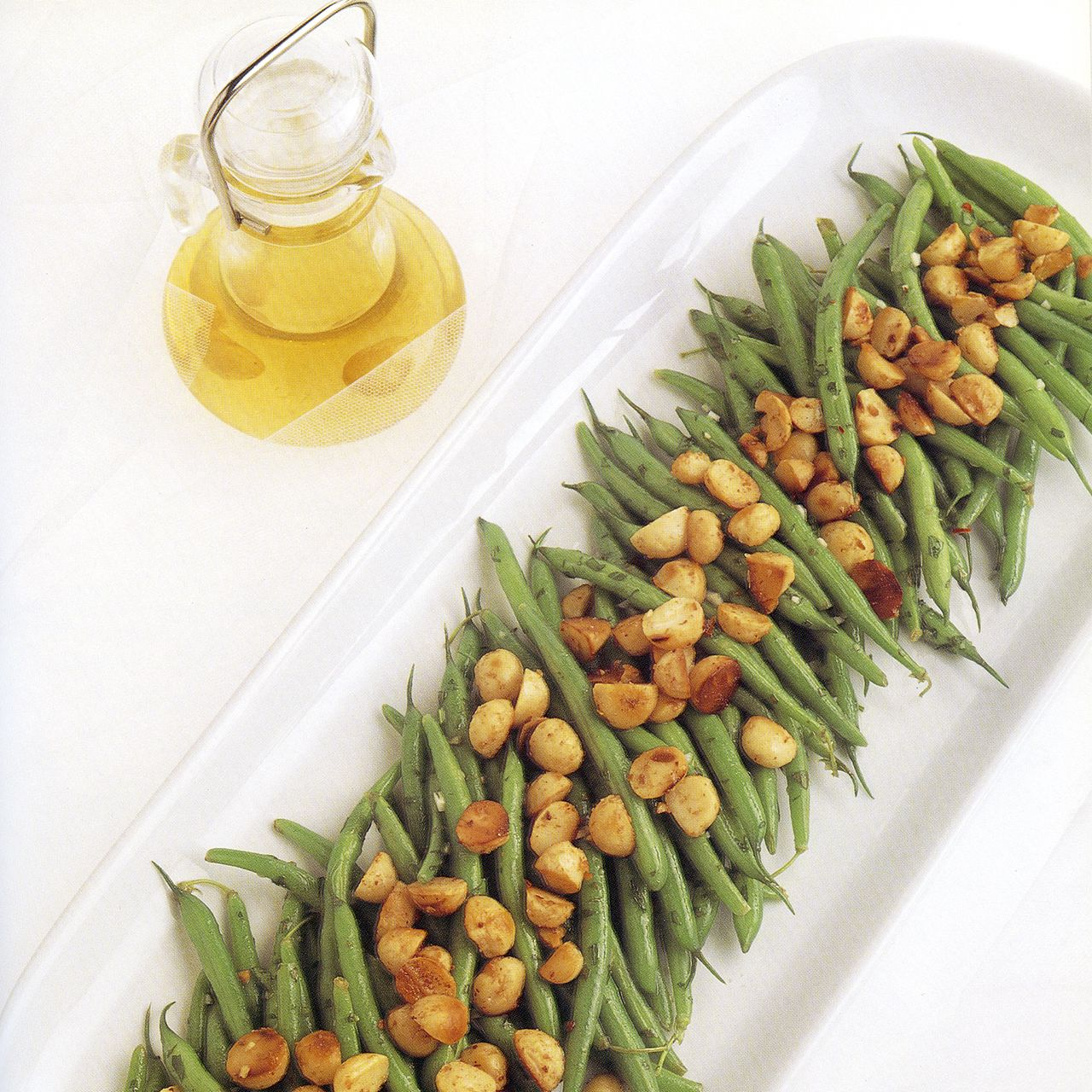 Green Bean Salad with Roasted Macadamia Nuts and Macadamia Nut Oil Vinaigrette