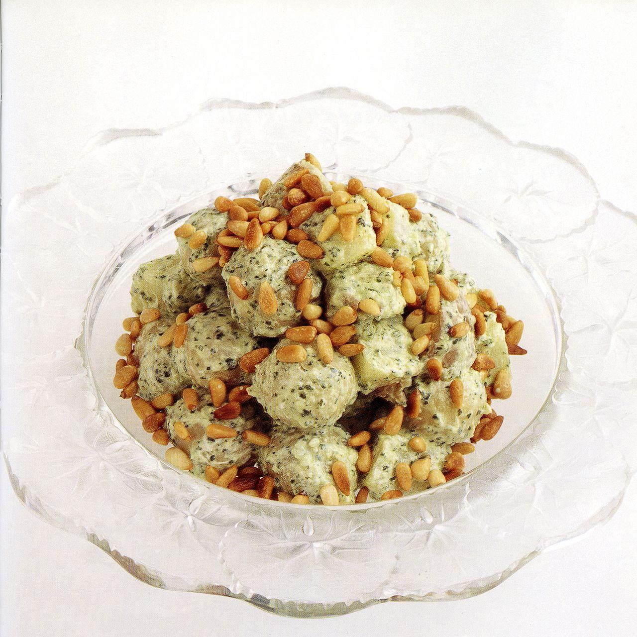 Mixed Potato Salad with Mint Pesto Dressing