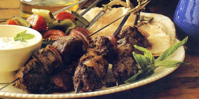 Grilled Lamb on Skewers