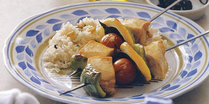 Grilled Swordfish Kabobs