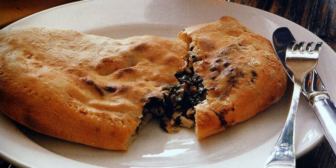 Calzone with Chicken and Spinach