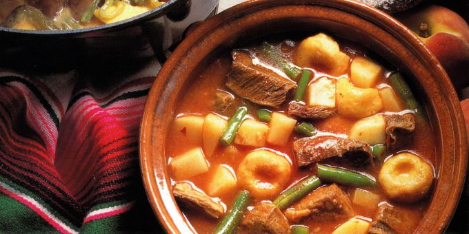 Beef Casserole with Chile and Avocado Leaves
