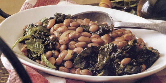 Venetian-Style Beans with Swiss Chard