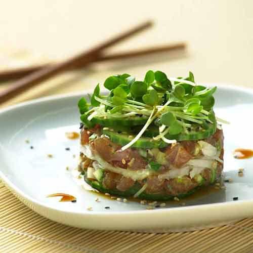 Ahi Sashimi Salad Towers