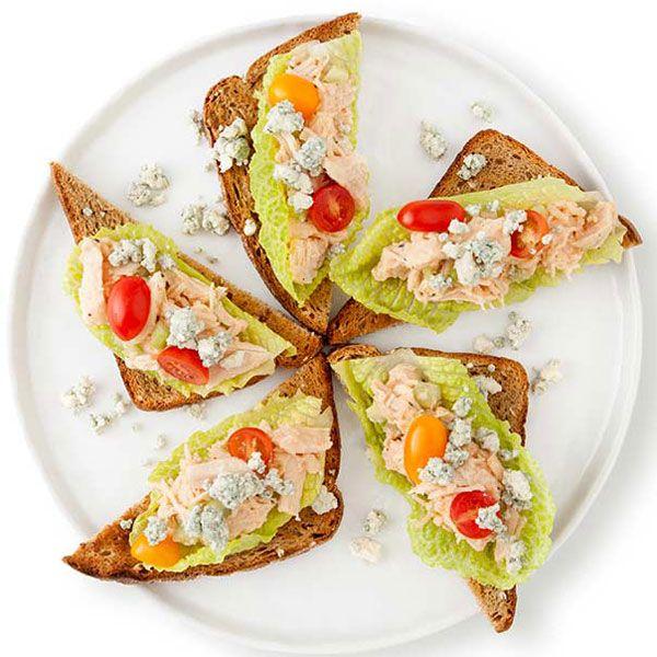 Buffalo Chicken Salad Triangles