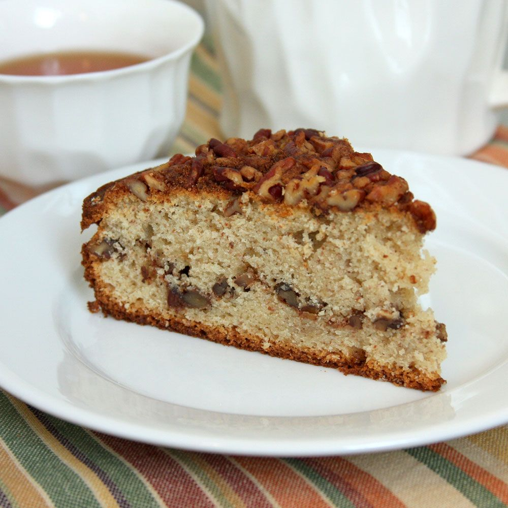 Pecan and Sour Cream Cake