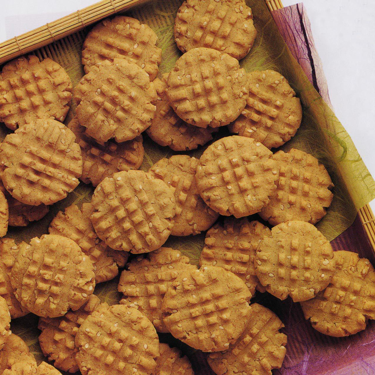 Sesame Fork Cookies