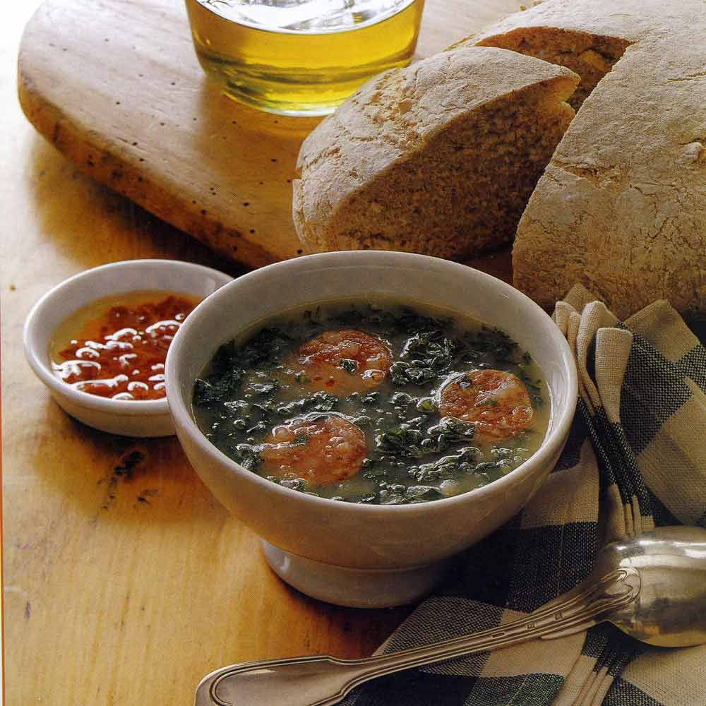 """Green Soup with Kale and Potatoes """"Caldo Verde"""""""