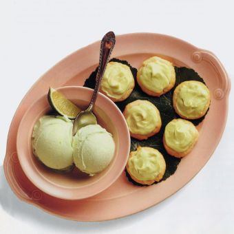 Frosted Lime Wafers