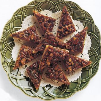 Coffee-Pecan Triangles