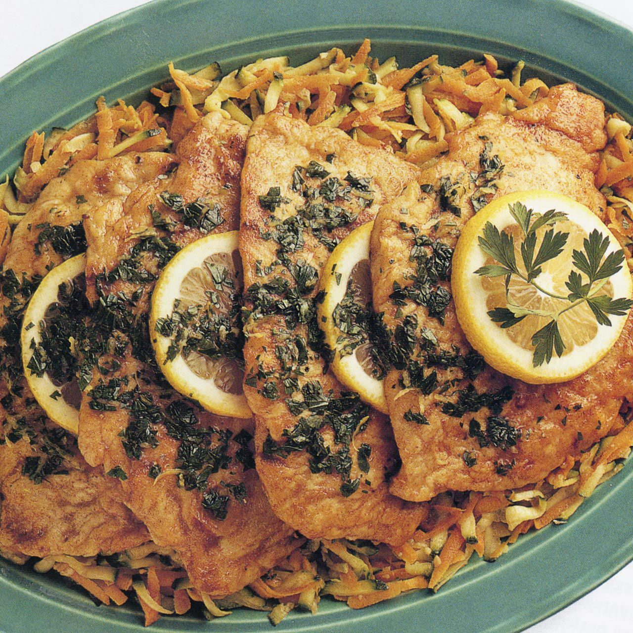 Chicken Piccata with Vegetables