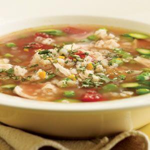 Spring Chicken & Barley Soup