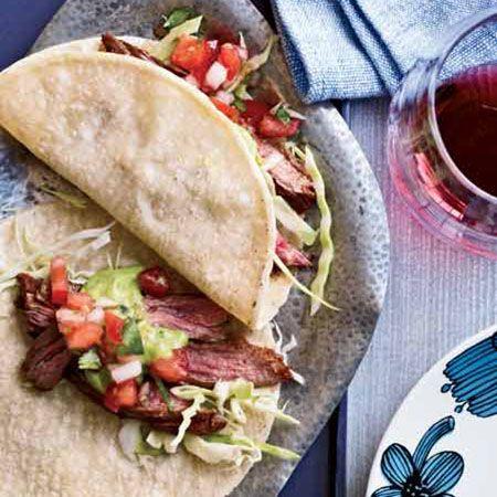 Chili-Spiced Skirt Steak Tacos