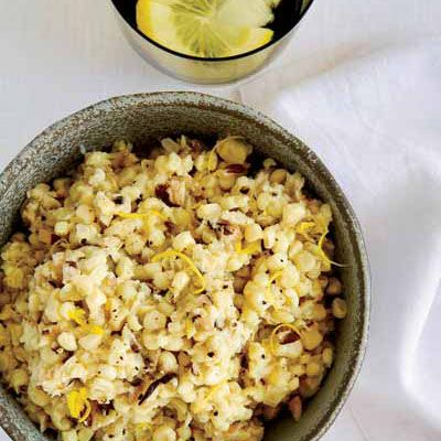 Creamless Creamed Corn with Mushrooms and Lemon