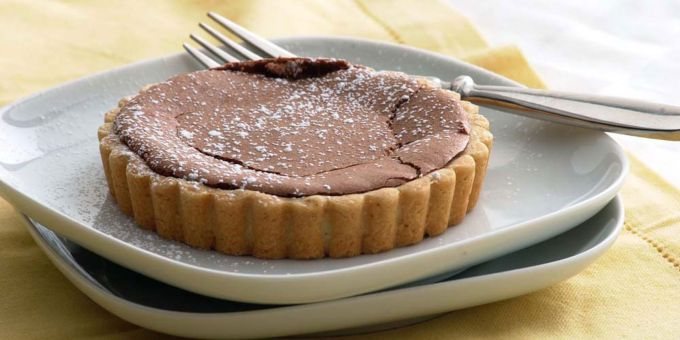 Chocolate Tartlets with Butter-Orange Cookie Crust