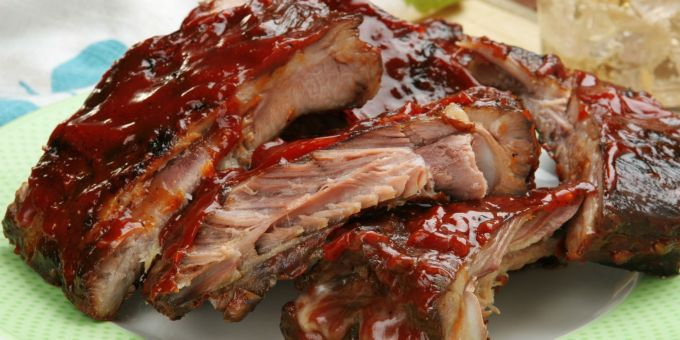 Pork Spareribs with Maple Barbecue Sauce
