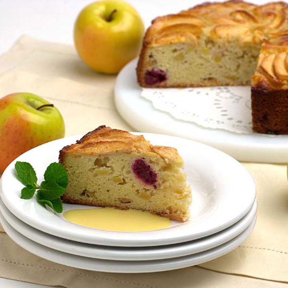 Apple and Blackberry Cake with Bushmills Custard Sauce
