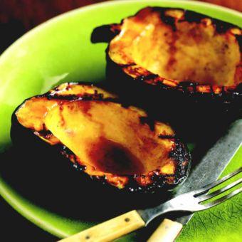 Orange-Glazed Grilled Acorn Squash