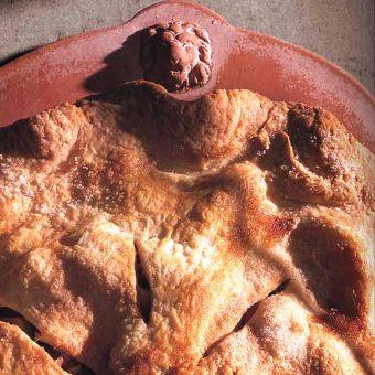 Maple Sugar-Crusted Apple Pie