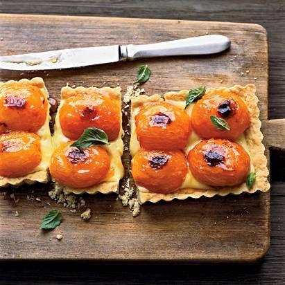 Apricot-and-Basil Shortbread Tart