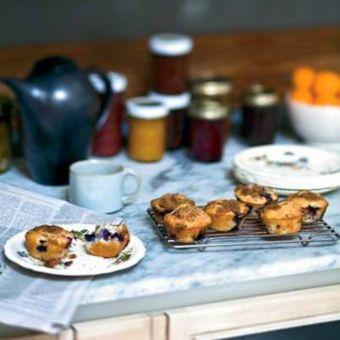 Blueberry–Sour Cream Muffins