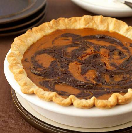 Chocolate-Swirled Pumpkin Pie