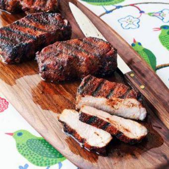 Cocoa-and-Chili-Rubbed Pork Chops