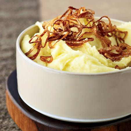 Mashed Potatoes with Crispy Shallots