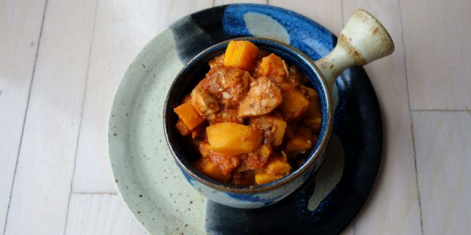 Chicken, Carrot and Sweet Potato Stew