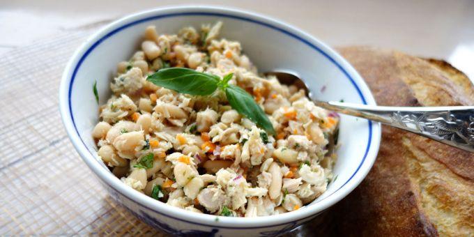 Cannellini Bean and Basil Tuna Salad